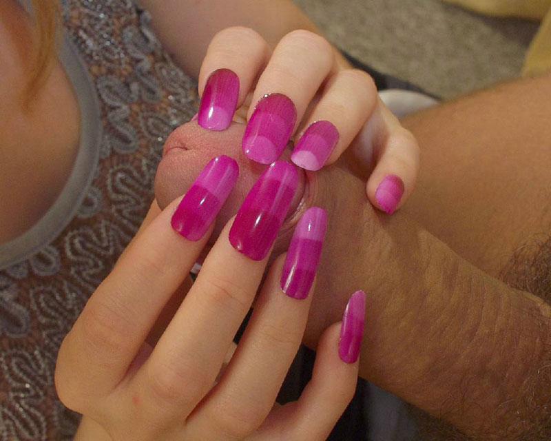 Speaking. Painted fingernails hand jobs